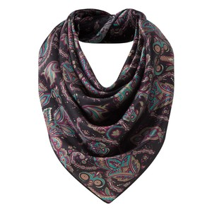 Ladies Silk Scarf Peacock