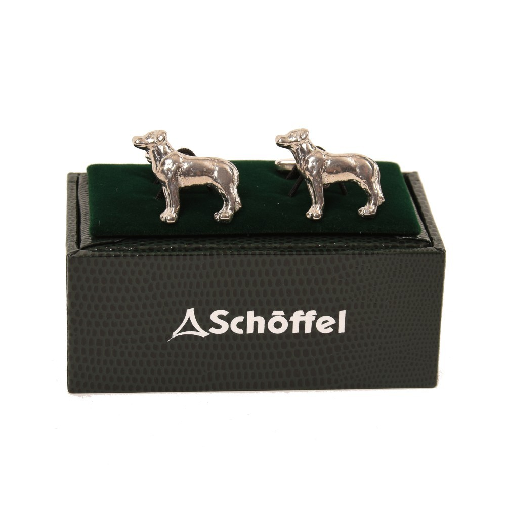 Schoffel Country Cufflinks Pewter Labrador