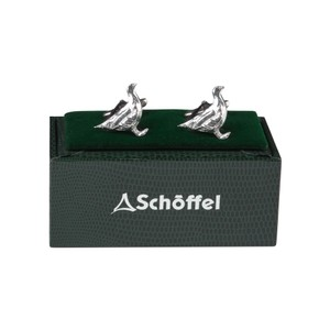 Cufflinks Pewter Ptarmigan