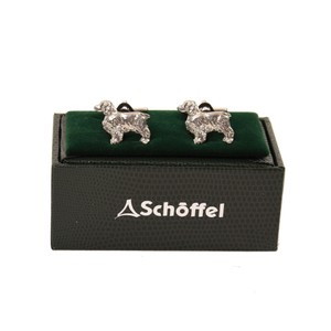 Schoffel Country Cufflinks in Pewter Spaniel