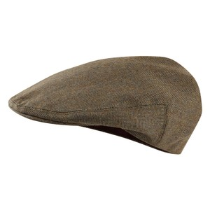 Ladies Tweed Cap Loden Green H/Bone Tweed
