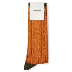 Schoffel Country Hilton Sock in Burnt Orange