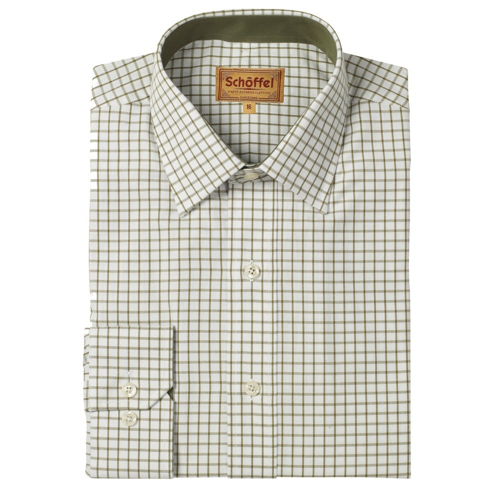 Schoffel Country Cambridge Tailored Sport Shirt Olive