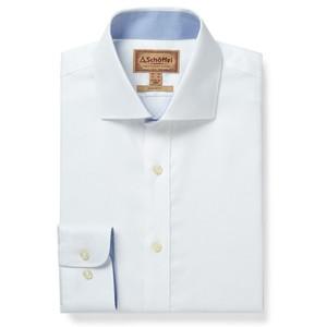 Greenwich Tailored Shirt White Diagonal