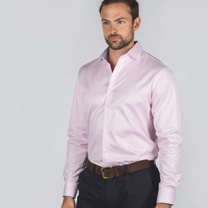 Schoffel Country Greenwich Tailored Shirt Pale Pink Stripe