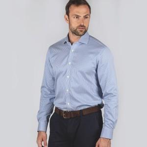 Greenwich Tailored Shirt Navy/Stripe