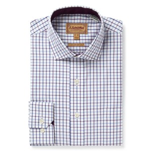 Milton Tailored Shirt Purple Check