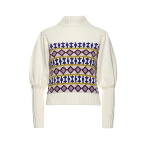 T/Nk Geo Jacquard Sweater Cream/Multi
