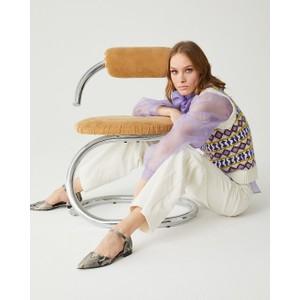 Sfizio Geometric Jacquard Vest Cream/Multi