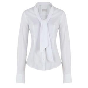 Anna Lascata Philippa Tie Nk Shirt White