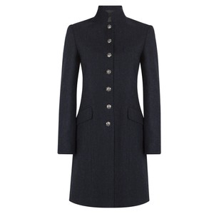 Alexandra Herringbone Coat Navy