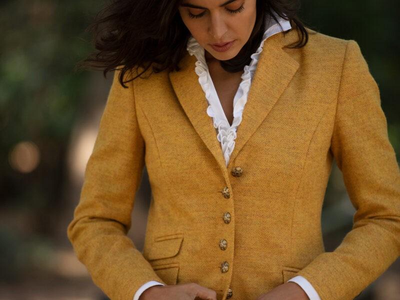 Anna Lascata Livia Herringbone Jacket Harvest