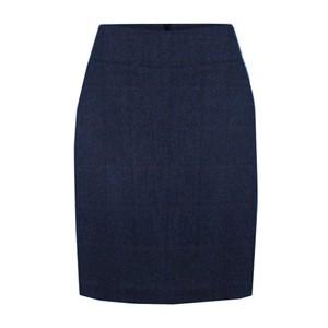 Bernice Herringbone Skirt Navy
