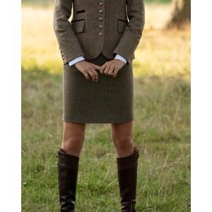 Anna Lascata Bernice Check Skirt Moss Raspberry