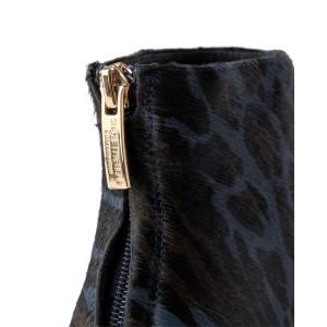 Shoe The Bear Caris Zip Point Leopard Boot Blue