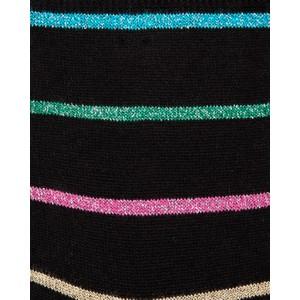 Paul Smith Accessories Patricia Glitter Stripe Sock Black/Gold