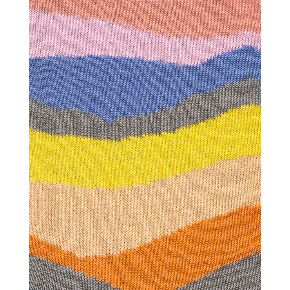 Paul Smith Accessories Mountain Stripe Socks Pink/Multi