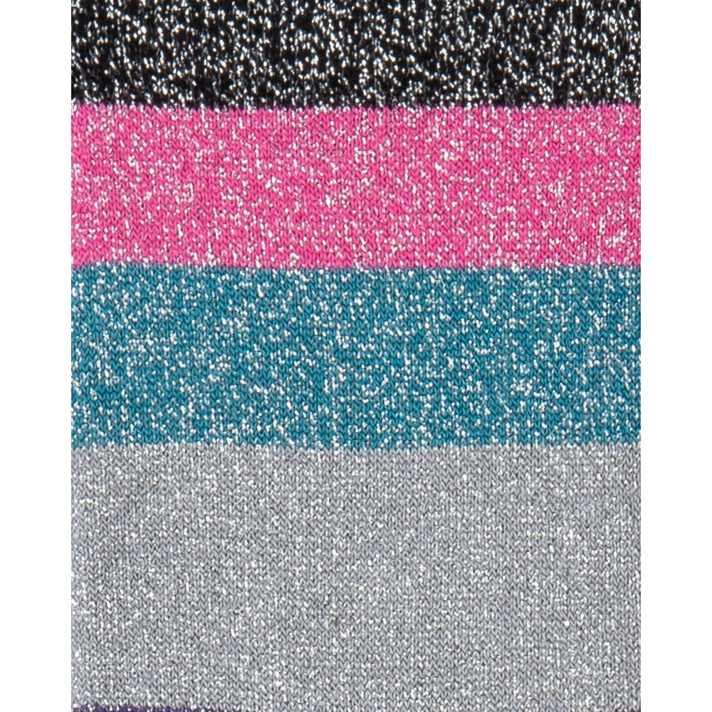 Paul Smith Accessories Osha Glitter/Stripe Socks Black/Pink/Multi