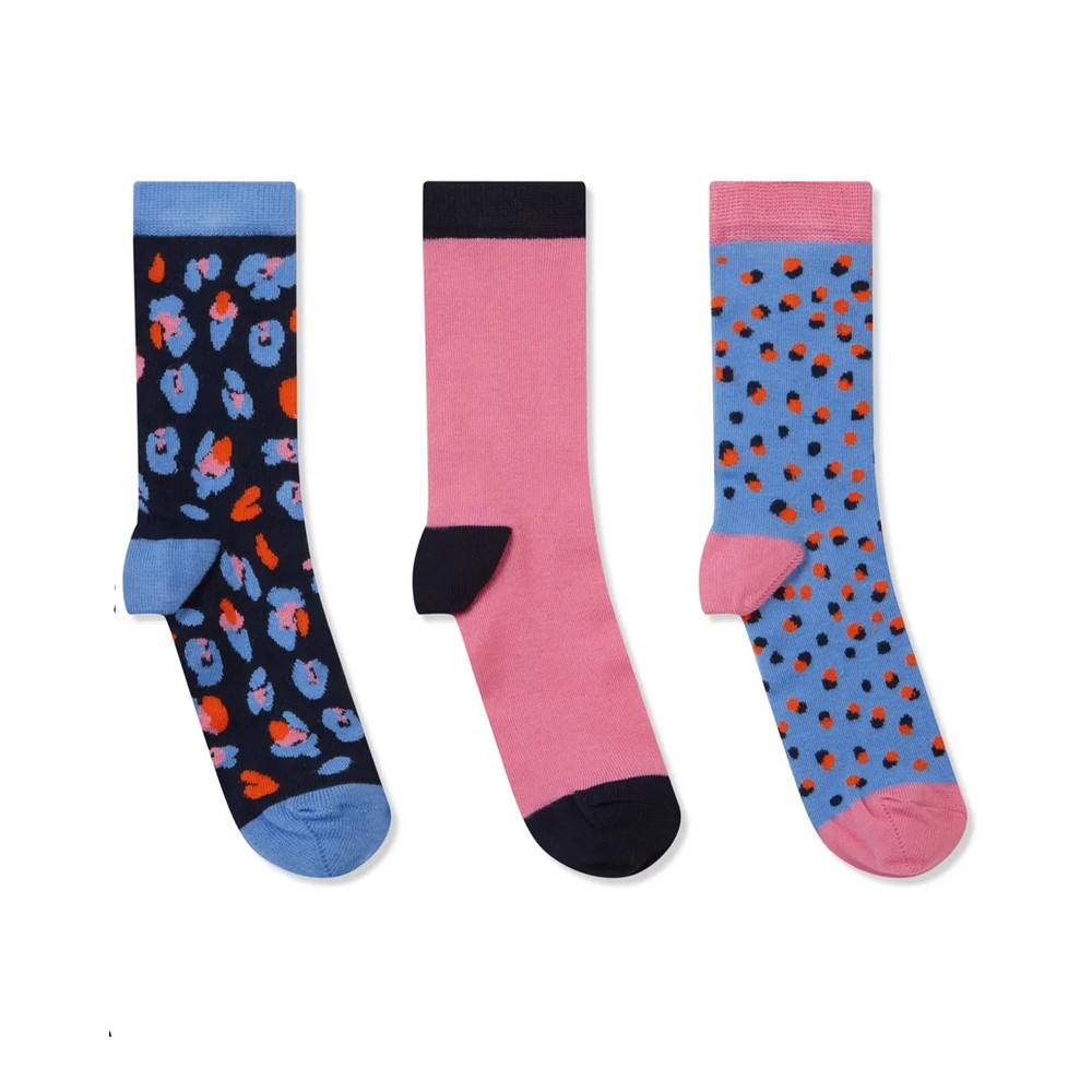 Schoffel Country Ladies Bamboo Socks-3 Pack Dusty Pink Mix