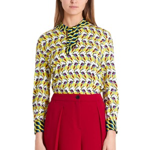 Marc Cain Floral Contrast Tie Nk Top Tapis