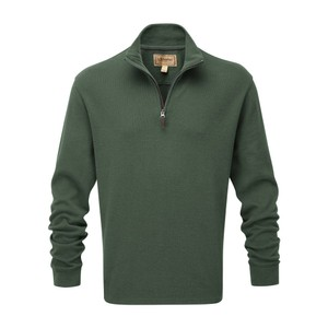 Cotton French Rib 1/4 Zip Sage