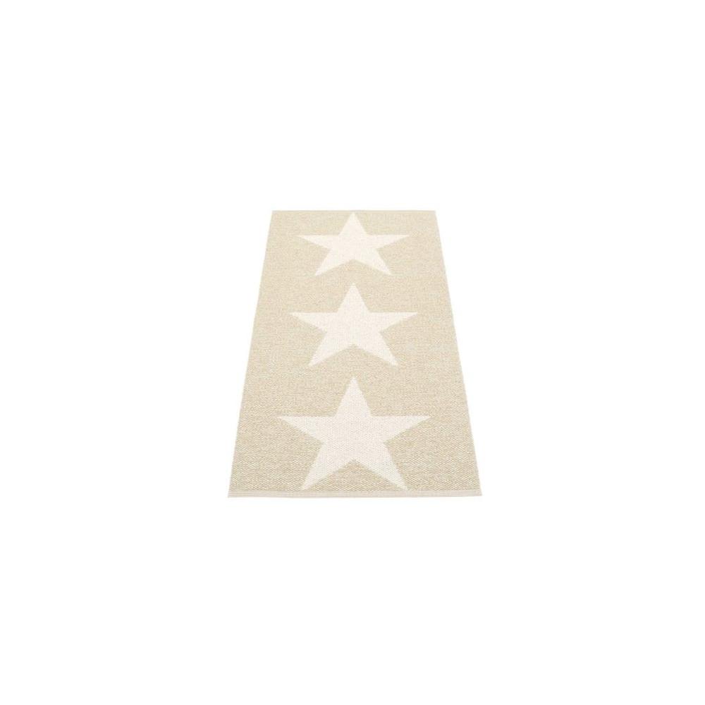 Pappelina Viggo Star Metallic Reversible Rug Champagne/Vanilla