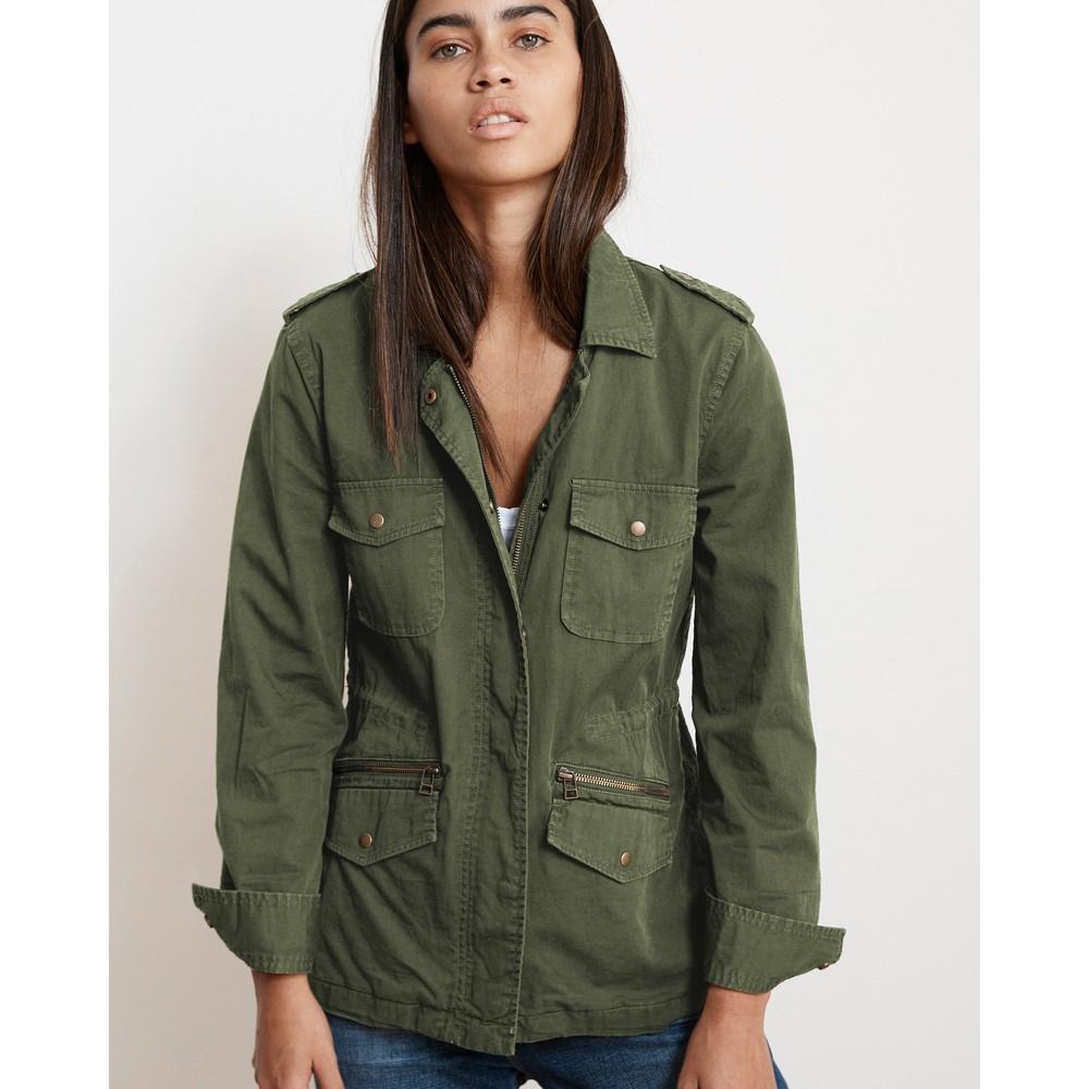 Velvet Ruby Army Jacket Forest