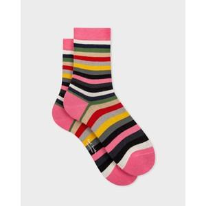 Pony Stripe Socks Pink/Multi