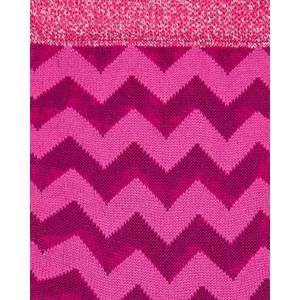 Paul Smith Accessories Pita Zigzag Glitter Socks Pink/Glitter