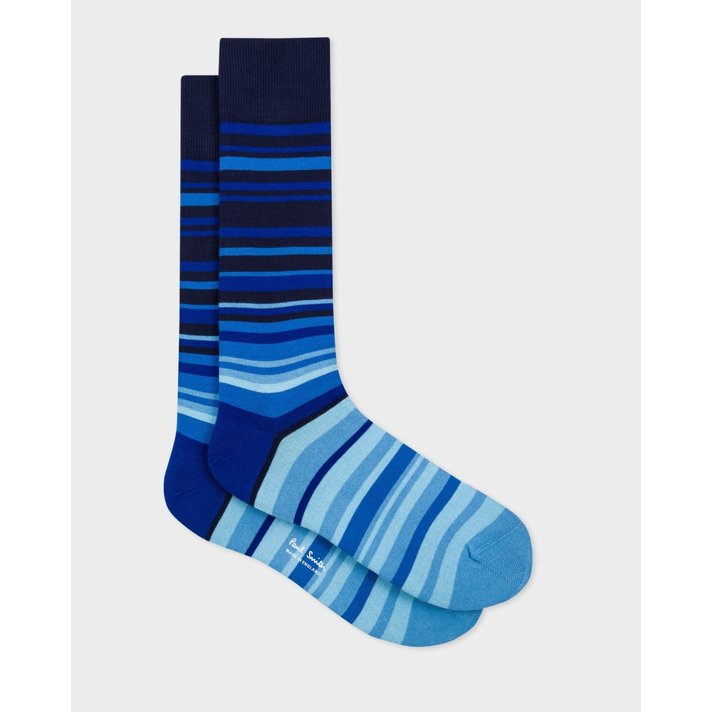 Paul Smith Accessories Paneer Stripe Socks Navy/Blue Stripe