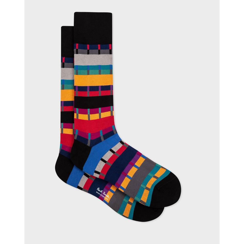 Paul Smith Accessories Pippin Stripe Socks Black/Multi