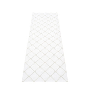 Pappelina Rex Diamond Motif Reversible Rug Fossil/White