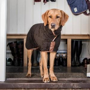 L Dog Drying Coat Mud