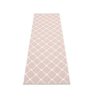 Rex Diamond Motif Reversible Rug Pale Rose