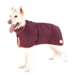 XL Dog Drying Coat Burgundy