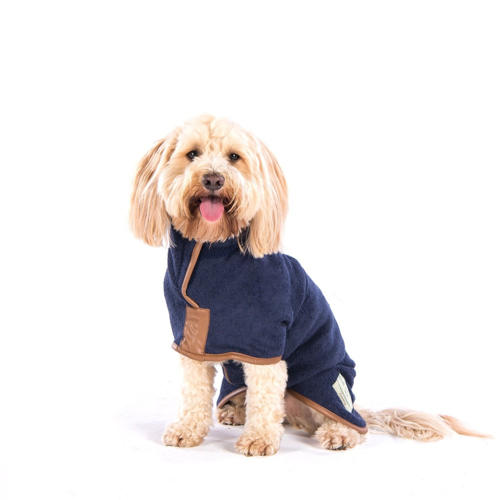 Ruff And Tumble GSD Dog Drying Coat French  Navy