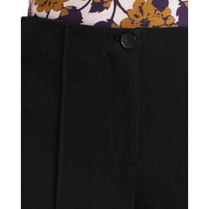 Marc Cain Wide Leg Crop Wool Trousers Black