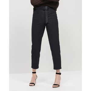 Tapered Leg Jeans Washed Black