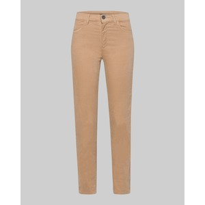 Riani Velvet Look Slim Fit Trousers Cafe Latte