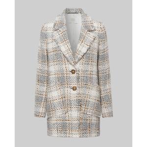 Riani Boucle Check Coat Off White/Multi