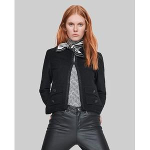Shimmer Plait Trim Jacket Black