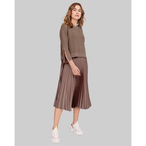 Riani Pleat Skirt Jumper Layer Dress in Rocca