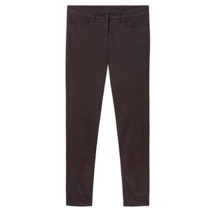 Skinny Leg Trousers-Turn Ups Chocolate