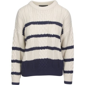 Camella Stripe Cable Knit Cream/Navy