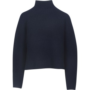 Kayla Hi Nk Crop Rib Knit Navy