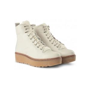 Bex L Platform Hiker Boot White