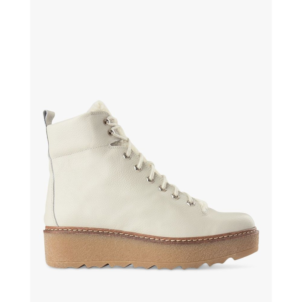 Shoe The Bear Bex L Platform Hiker Boot White