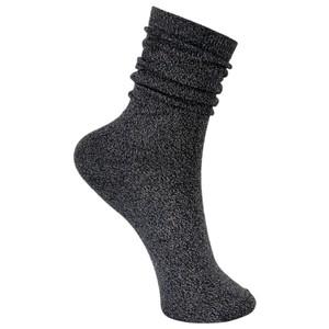 Black Colour Lurex Socks in Dark Grey