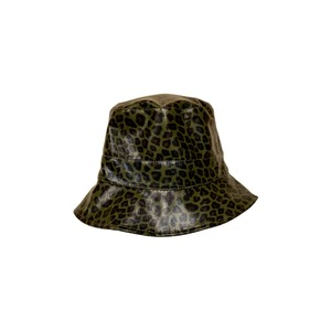 Black Colour Jacy Leo Bucket Hat in Army