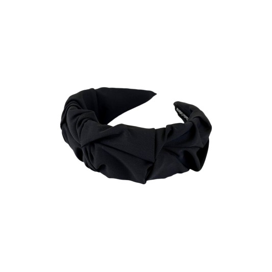 Black Colour Drape Headband Black